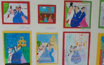 El Museo Cruz Herrera expone 'Pintando a Cruz Herrera', una muestra con trabajos realizados por escolares del colegio Inmaculada sobre conocidas obras del autor