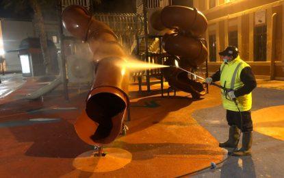 Los trabajos de desinfección de Limpieza se han desarrollado en las inmediaciones de la avenida María Guerrero