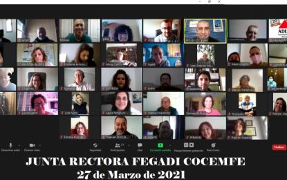 Fegadi Cocemfe reúne a su movimiento asociativo en la primera Junta Rectora de 2021