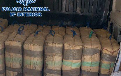 La Policía Nacional  interviene en La Línea de la Concepción 525 kilos de hachís en el interior de una furgoneta