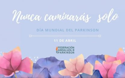 La edil de Salud, Zuleica Molina, apoya a los afectados de parkinson en el Día Mundial de esta enfermedad, celebrado ayer domingo