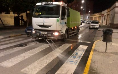 Los trabajos de desinfección de Limpieza se han desarrollado por distintas barriadas de la ciudad