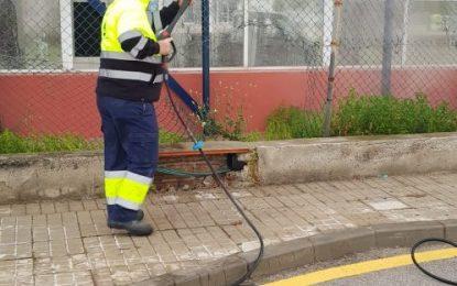Los trabajos de desinfección de Limpieza se han desarrollado por las barriadas de Los Junquillos y San Bernardo
