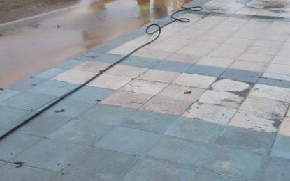 Los trabajos de desinfección de Limpieza se han centrado en La Atunara