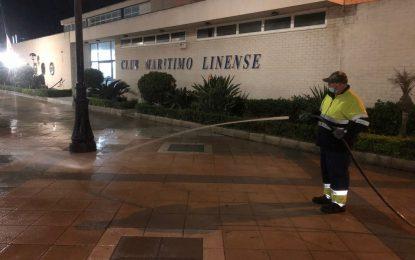 Los trabajos de desinfección de Limpieza se han centrado en la zona de Poniente