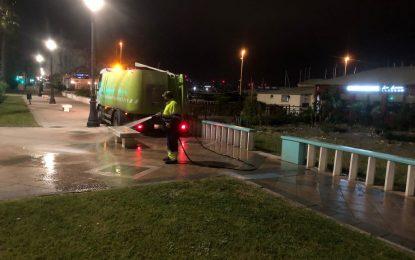 Los trabajos de desinfección de Limpieza se han desarrollado por la zona de Santiago