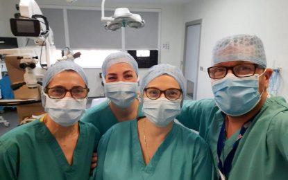 Se hace historia en Gibraltar con el primer trasplante de córnea, traída del Banco de Ojos de Venecia