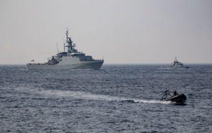Ejercicio conjunto marítimo de fuerzas de seguridad militares y civiles para reforzar la capacidad como centro de operaciones estratégico en el Mediterráneo