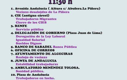 Marea Violeta junto a otros colectivos convocan en la comarca manifestación para el 1 de mayo en Algeciras