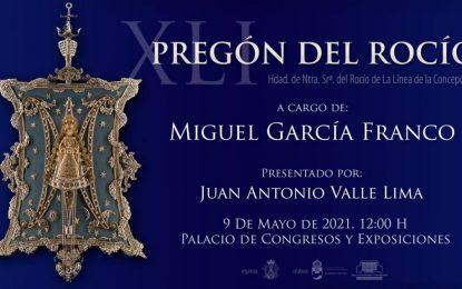 Mañana Pregón del Rocio a cargo de Manuel García Franco