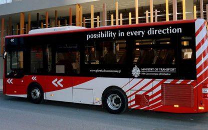 Continuando con el retorno a la normalidad, los autobuses de Gibraltar operarán al 100% de capacidad
