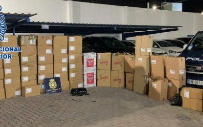 La Policía Nacional  interviene en La Línea de la Concepción cerca de 20.000 cajetillas de tabaco de contrabando