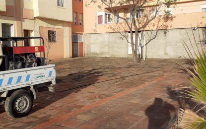 Los trabajos de desinfección de Limpieza se han desarrollado en la zona centro y el paseo de Poniente