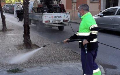 Los trabajos diarios de desinfección se han desarrollado en zonas del centro y semicentro