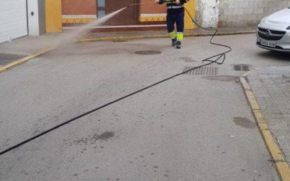 Los trabajos de desinfección de Limpieza se han centrado en la zona centro