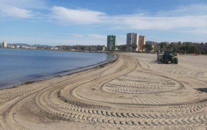 Playas retira 20 toneladas de algas acumuladas en el litoral de Poniente