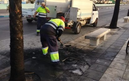Los trabajos de desinfección de Limpieza se han realizado en la barriada de Los Junquillos