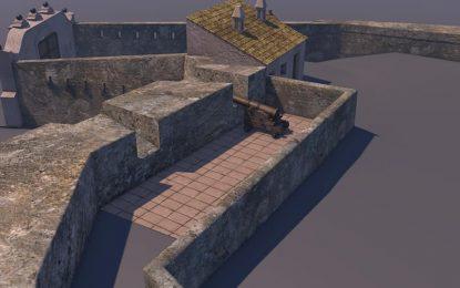 Romero y la Asociación del Fuerte de Santa Bárbara preparan un trabajo en 3D del Fuerte de Isla Verde en Algeciras