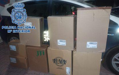 La Policía Nacional interviene 3.775 litros de combustible, 3.500 cajetillas de contrabando y tres vehículos robados