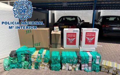 La Policía Nacional interviene más de 20.000 cajetillas de tabaco de contrabando y practica 3 detenciones
