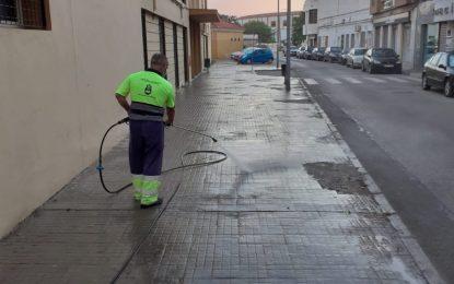 Los trabajos de desinfección de Limpieza se han desarrollado en el distrito de Mondejar
