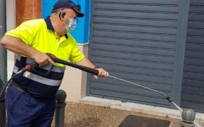 Los trabajos de desinfección de Limpieza se han centrado en el distrito de Mondéjar