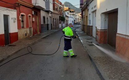 Los trabajos de desinfección de Limpieza se han centrado en el distrito San Pedro-Colón