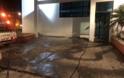 Los trabajos de desinfección de Limpieza se han realizado en los distritos de Santiago y Huerta Fava