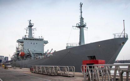 El mayor buque oceanográfico de Europa Occidental visita Gibraltar