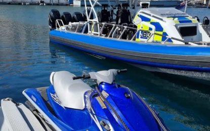 Detenidos un español y un marroquí por navegar en aguas de Gibraltar sin autorización