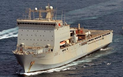 Gibraltar recibe al RFA 'Cardigan Bay' de la Real Flota Auxiliar británica