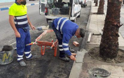 Mantenimiento Urbano prosigue con la reparación de mobiliario urbano en  San Bernardo y Atunara