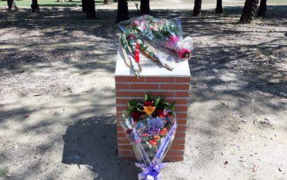 El oficial de la Policía Local, Victor Sánchez, recibe un homenaje en el cuarto aniversario de su fallecimiento