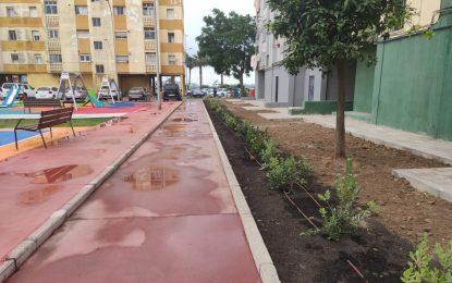 El alcalde ha visitado las obras de la plaza Begoña ejecutadas con financiación dependiente de Diputación