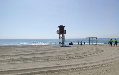 El PSOE lamenta el estado de las playas linenses
