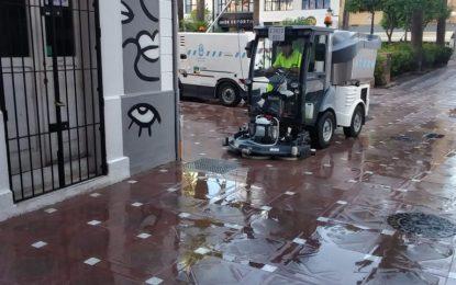 Los trabajos de desinfección de Limpieza se han desarrollado en la zona de Santiago