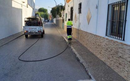 Los trabajos de desinfección de Limpieza se han desarrollado en la zona de La Atunara