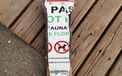 Destrozan en Sobrevela señales indicadoras de nidos de chorlitejo patinegro