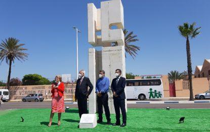 Inaugurada la escultura conmemorativa del 50º aniversario de Asansull 'La Línea, ciudad inclusiva'