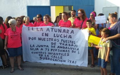 CCOO celebra que se declaren nulos los despidos de las trabajadoras de la escuela infantil La Atunara, que fueron despedidas tras asumir su gestión la Junta