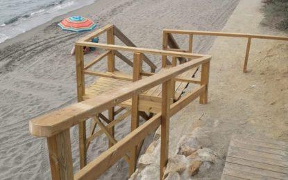 Playas realiza reparaciones en el Puente de Santa Bárbara