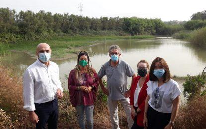 La concejal de Medio Ambiente visita  la reserva medioambiental de Madrevieja