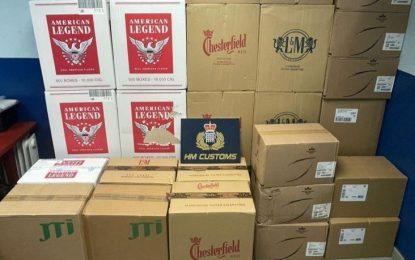 El Servicio de Aduanas de Gibraltar se incauta 1.000 cartones de cigarrillos