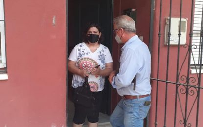 Valle Lima visita a los vecinos del Pasaje Guadalajara y analiza su problema de aguas fecales