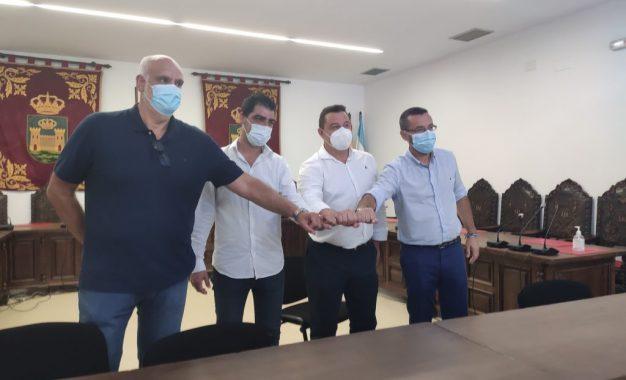 Suscrito un convenio de patrocinio entre Ubago y la Real Balompédica Linense