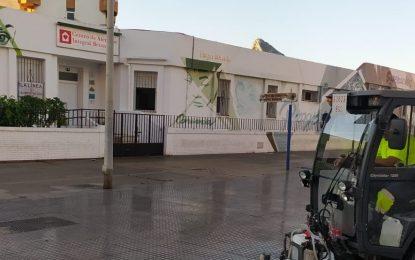 Los trabajos de desinfección de Limpieza se han realizado en la barriada de Periáñez y el centro de la ciudad