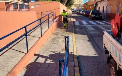 Los trabajos de desinfección de Limpieza se han desarrollado en la zona de Periáñez